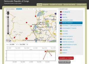 Vue en temps réel des exactiosn faites au femmes au RDC