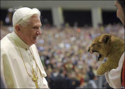 pope vs lion