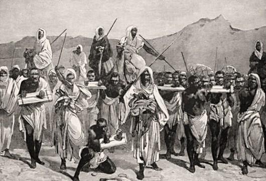 vendeurs d'esclaves d'origine arabe ndas l'Afrique de l'Est