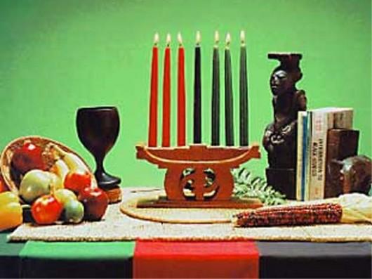 Tableau de cérémonie utilisée durant la célébration de Kwanzaa