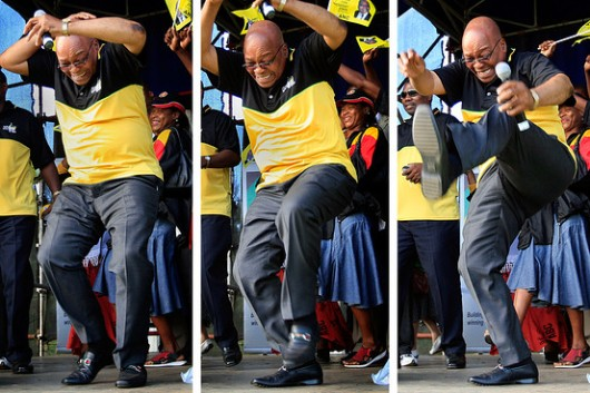Jacob Zuma dancing